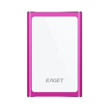 EAGET G90 Original 500G USB 3.0 High-Speed Ultra-thin Extreme Fashion Full Metal Encryption Portable External Hard Disk Drives HDD Pink