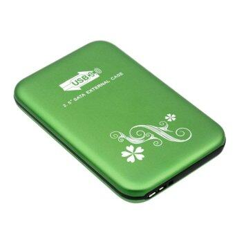 USB 3.0 2.5-Inch SATA HDD Hard Drive Disk Flower Case Box Enclosure External Green
