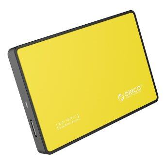ORICO Tool Free 2.5 inch USB 3.0 SATA External Hard Drive Enclosure for 7mm/9.5mm 2.5 inch HDD and SSD- Yellow - Intl