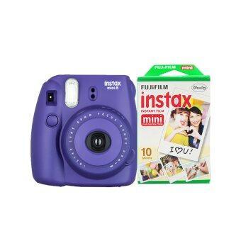 Fujifilm Instax mini 8 (Grape) + Fuji fillm Instax Mini Pack 10 Sheets
