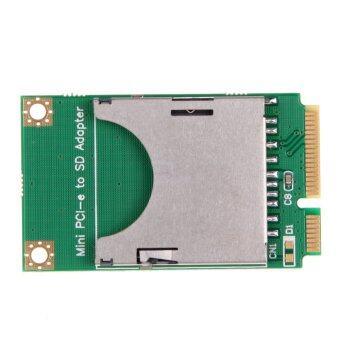 Practical Mini PCI-E to SD Card Adapter Laptop Computer External Drive (Green)