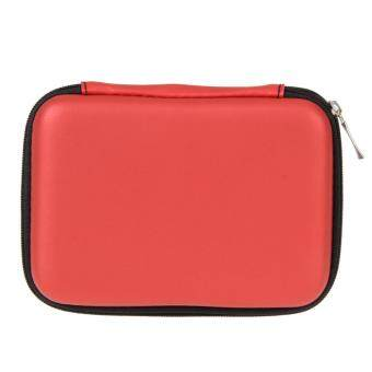 2.5 Inch Universal External Hard Drive Disk USB Cable Carry Case Cover Bag Pouch For PC Tablet Red - intl