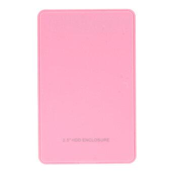 "2.5"" USB 2.0 SATA Hd Box HDD Hard Drive External Enclosure Case (Pink) - intl"