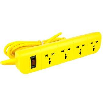 Macnus ปลั๊กต่อพ่วงไฟฟ้า 3 เมตร 4 ช่อง - สีเหลือง