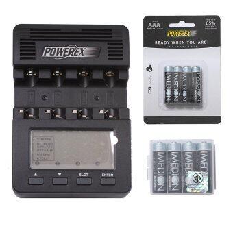 Powerex แท่นชาร์จ รุ่น MH-C9000 + Imedion 950 mAh AAA 4 ก้อน + Imedion 2400 mAh AA 4 ก้อน