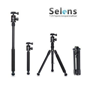 Selens สีดำ 157.48ซม T-170 ขาตั้ง และโมโนกับหัวบอลสำหรับ DSLR กล้อง