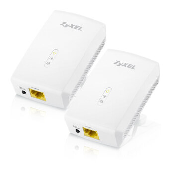 ZyXEL 1000Mbps Powerline Gigabit Ethernet Adapter รุ่น PLA5206 - White TWIN PACK