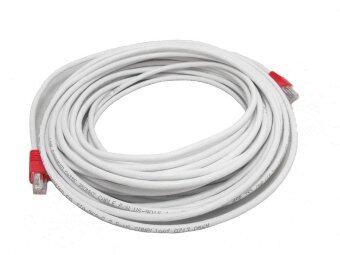 Link Cable CAT5E สายแลน เข้าหัวสำเร็จรูป 65 เมตร - สีขาว