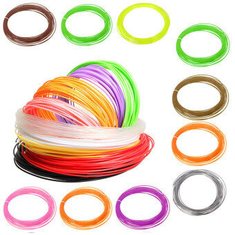 Audew 10M 3D Printer Filament 1.75mm PLA Candy Colors Durable Orange - Intl