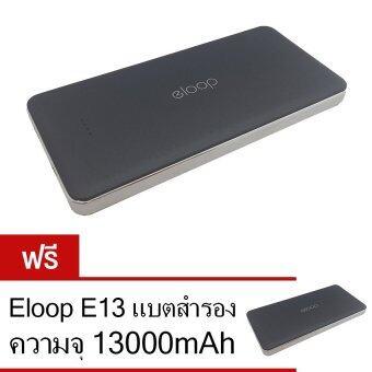 Eloop Power Bank 13000mAh รุ่น E13 (สีดำ) ฟรี Eloop E13 แบตสำรอง 13000mAh