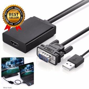 สายแปลงสัญญาณจาก VGA ไป HDMI +Audio สำหรับ Notebook PC รุ่นเก่าที่แปลงอนาล็อก VGA เชื่อมต่อทีวี HDMI