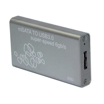 TS-MSATA01 USB 3.0 to mSATA Hard Disk SSD Case (Silver)