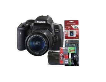 Canon EOS 750D Kit 18-55 STM (ประกันร้านEC-Mall) + SD TRANSCEND 16GB (400X) + ฟิล์มกันรอย + ชุดทำความสะอาด + กระเป๋า