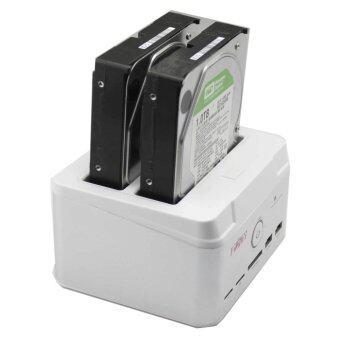 """9final USB 2.0 to 2.5 3.5"""" HDD Docking 2 Bay , Harddisk Docking ฮาร์ดิสถ์ รองรับ SATAx2 +clone + Reader ( No Harddisk)"""