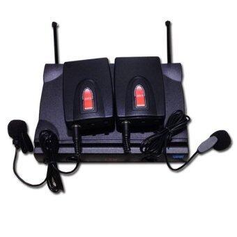 LTM ไมค์โครโฟนไร้สายระบบUHFหนีบปก ครอบหัว TM1800หนีบ (Black)