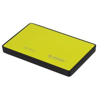 ORICO 2588US3 Tool Free USB 3.0 to 2.5-inch SATA External Hard Drive Enclosure Adapter Case Support Transmission for 9.5mm & 7mm 2.5 HDD and SSD - Yellow Color - Intl