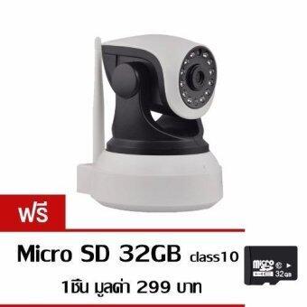 p2p กล้องวงจรปิด IP Camera รุ่นN3019 HD รองรับ SD CARD 64G 1.0 Mp and IR Cut WIP HD ONVIF (สีขาว/ดำ) ฟรี Memory Card 32 GB
