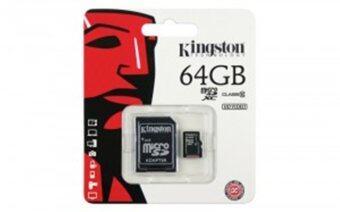 Kingston Micro SD 64GB (SDCX10V, Class 10) - Black