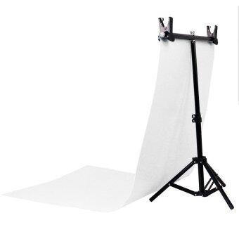 Buyanyway ชุด Back Drop Studio Large พร้อมพื้นหลัง ถ่ายสินค้า PVC ขาว