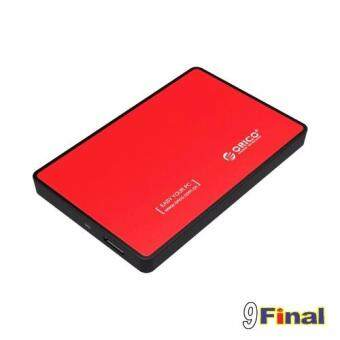 "ORICO 2588US3-RD By 9FINAL Tool Free 2.5"" SATA to USB 3.0 External Hard Drive Enclosure ( Red Color)"