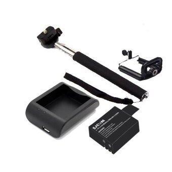 SJCAM Battery 900mAh+External Charger+Monopod Selfie (Sj4000 , Sj5000)