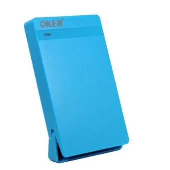 "OKER ST-2526 USB 2.0 2.5"" SATA External Hard Drive Enclosure (Blue)"