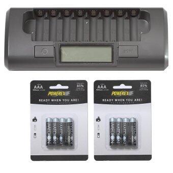 Powerex แท่นชาร์จ รุ่น MH-C800S + Imedion 950 mAh AAA 8 ก้อน