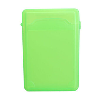 2.5Inch Full Case Protector Storage Box for Hard Drive IDE SATA Compact (สีเขียว)