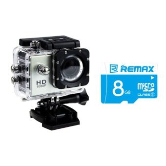 (BUNDLE) Sports Action SJ5000 2.0�x9D Full HD 1080p Wi-Fi WaterproofCamera (Silver) with REMAX 8GB Class 6 30MB/s Micro SDHC - intl