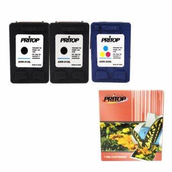 PRITOP Axis / HP DeskJet 3910,3915,3930,3940,D1330,D1360,D2330,D2360 /All-in-One F340, F380 /Office jet 4315 Ink Cartridge 21XL*2 /22XL*1 Pritop