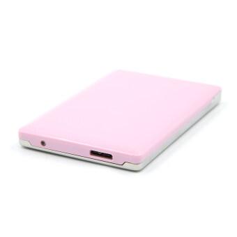 2.5 Inch USB 3.0 Aluminum External Storage SATA Hard Drive HDD Enclosure Box Case Pink + Silver