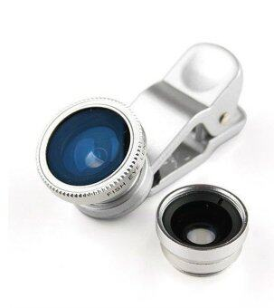 LIEQI LQ-001 3in1 Universal Clip Lens สำหรับ Smartphone,Tablet - สีเงิน
