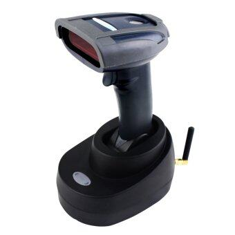 Portable 433MHz Wireless Laser Barcode Scanner Up to 100m with Memory Inventory Bar Code Reader with Base Chargeable - intl