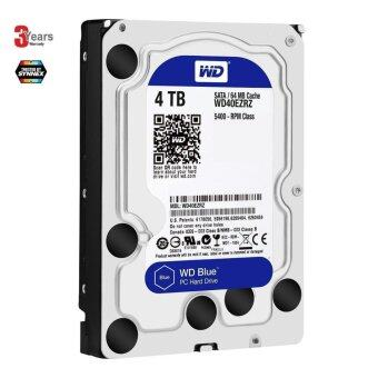 "Western WD Blue 3.5"" Desktop Hard Drives 4TB (WD40EZRZ) -3YEARS By Synnex"