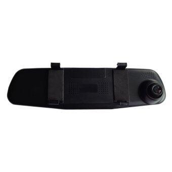 กล้องติดรถยนต์แบบกระจกมองหลังพร้อมกล้องติดท้ายรถกันน้ำ SST Vehicle Black