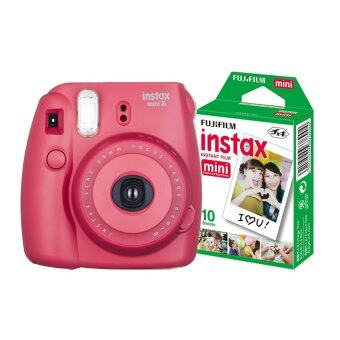 Fujifilm Instax mini 8 (Rasberry) + Fuji fillm Instax Mini Pack 10 Sheets