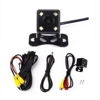 PYM กล้องมองหลังติดรถยนต์ สำหรับใช้ดูภาพตอนถอยหลัง สีดำ