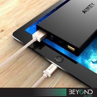 [Upgraded] APPLE Certified Aukey 1.2 m Braided Lightning USB Cable สายชาร์จ/สายซิงค์/สายเคเบิ้ล/สายถักไนล่อนคุณภาพสูง MFI สีทอง (image 2)
