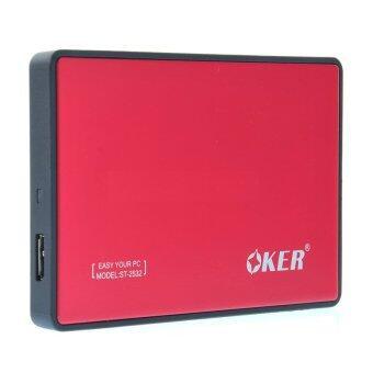 OKER Enclosure 2.5'' SATA รุ่น 2532,USB3 (Red)