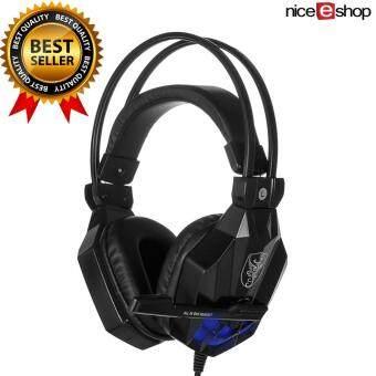 niceEshop Soyto 850 3.5มมเกมเกมชุดหูฟังหูฟังสายหูฟังกับไมโครโฟนไฟ led สำหรับโน้ตบุ๊ค (สีดำ)