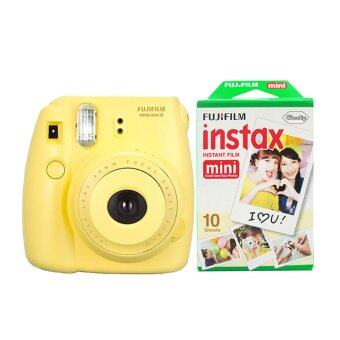 Fujifilm Instax mini 8 (Yellow) + Fuji fillm Instax Mini Pack 10 Sheets
