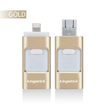 128GB iFlash Drive HD U-Disk Micro USB 3 in 1 for Android/iPhone5/6/5s/6Plus iPad iPod/PC/MAC(Gold) - intl
