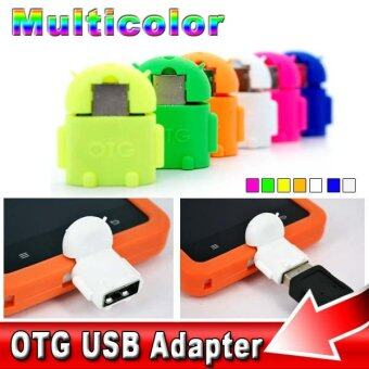 Robot Shape Android Micro USB To USB 2.0 Converter OTG Adapter For Samsung Galaxy S3 S4 S5 (Pink)