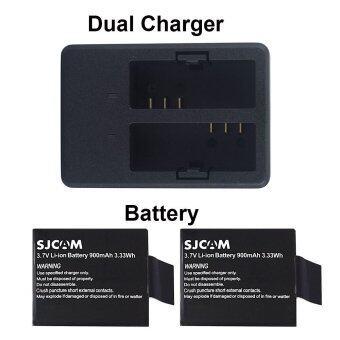 SJCAM DUAL-SLOT CHARGER + Battery x 2 for SJCAM SJ4000 SJ5000 M10