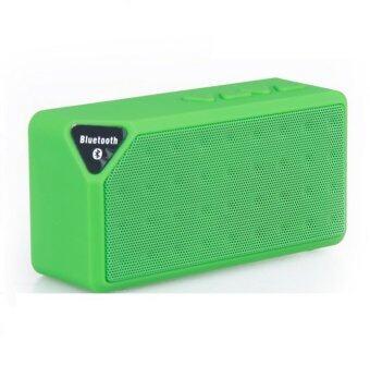 V-TECH ลำโพง Bluetooth Speaker X3 เปลี่ยนถ่านได้ - สีเขียว
