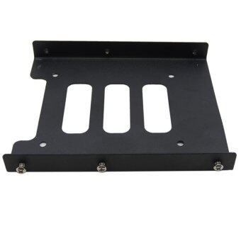 """2.5"""" to 3.5"""" SSD HDD Metal Adapter Mounting Bracket Hard Drive Holder for PC - INTL"""