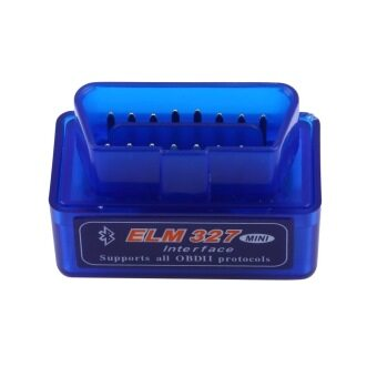 Super Mini ELM327 V2.1 OBD2 II Bluetooth Diagnostic Car Auto Interface Scanner (Blue)
