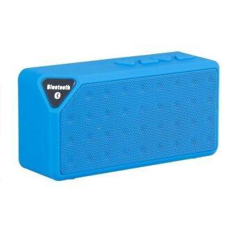 V-TECH ลำโพง Bluetooth Speaker X3 เปลี่ยนถ่านได้ - สีฟ้า