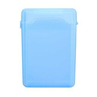 2.5Inch Full Case Protector Storage Box for Hard Drive IDE SATA Compact (สีฟ้า)
