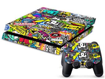 Aukey BOMB Graffiti Sticker for PS4 Console 2 Controller Vinyl